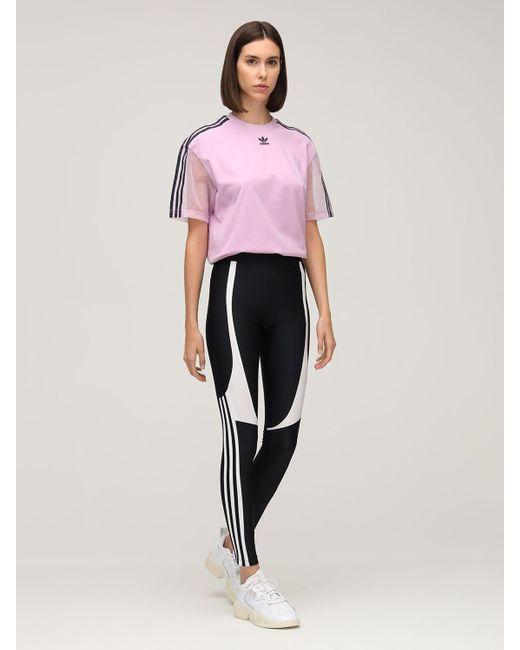Adidas Originals 3 Stripes レギンス Black
