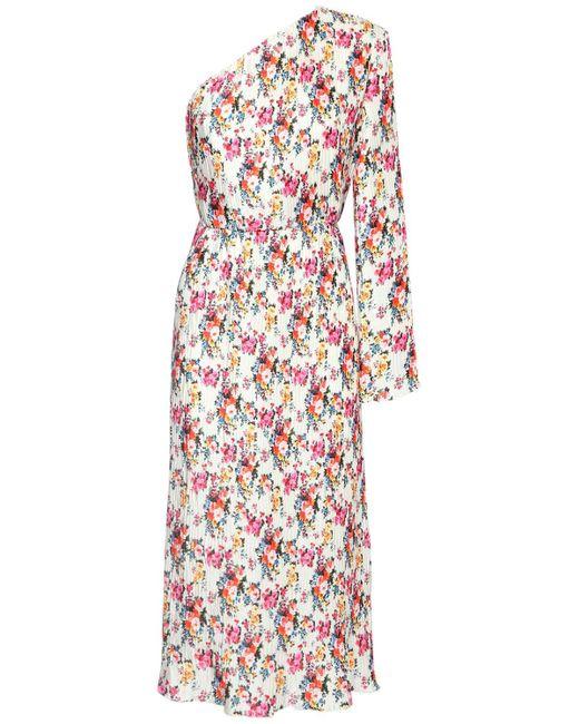 MSGM プリントワンショルダードレス Multicolor