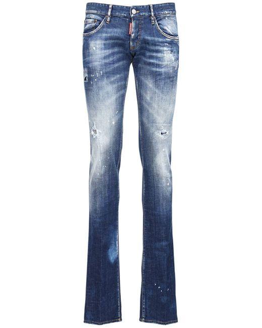 メンズ DSquared² Straight Leg Sharpei ストレッチジーンズ 22cm Blue