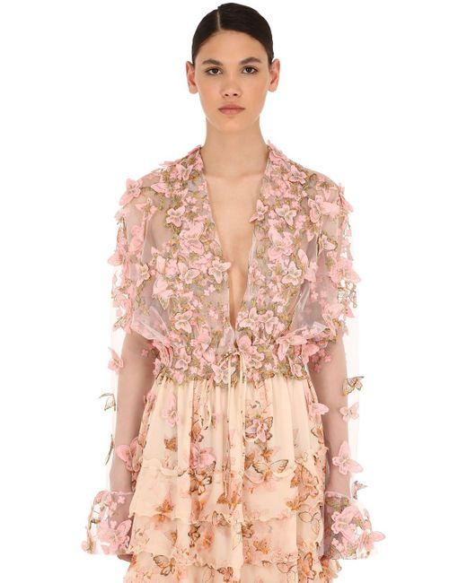 Luisa Beccaria チュールトップ Pink