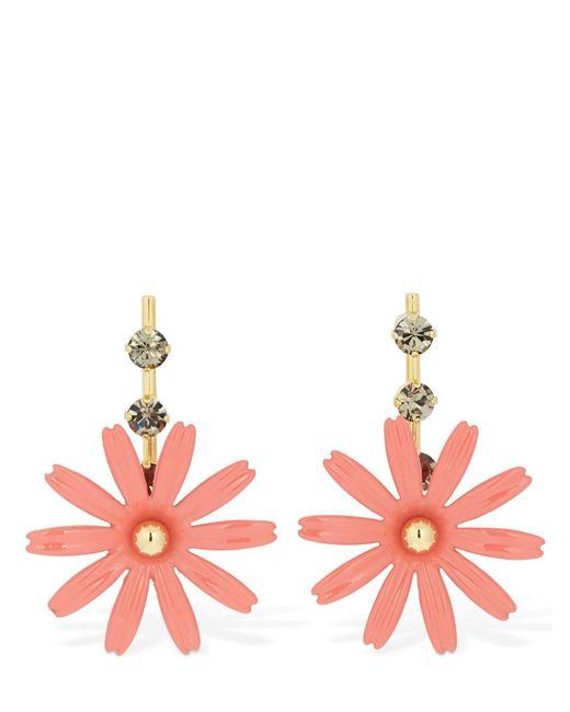 Marni Flower ドロップピアス Pink
