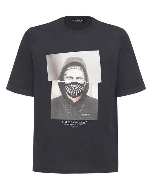 メンズ Neil Barrett コットンジャージーtシャツ Black
