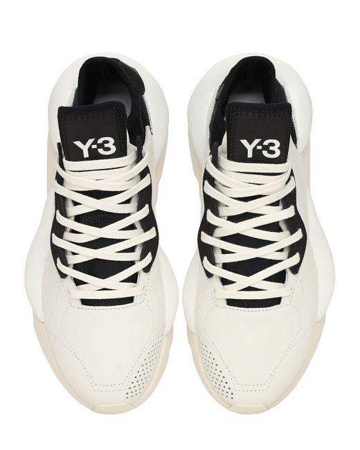 """Baskets En Cuir Et Textile """" Kaiwa"""" Y-3 pour homme en coloris Black"""