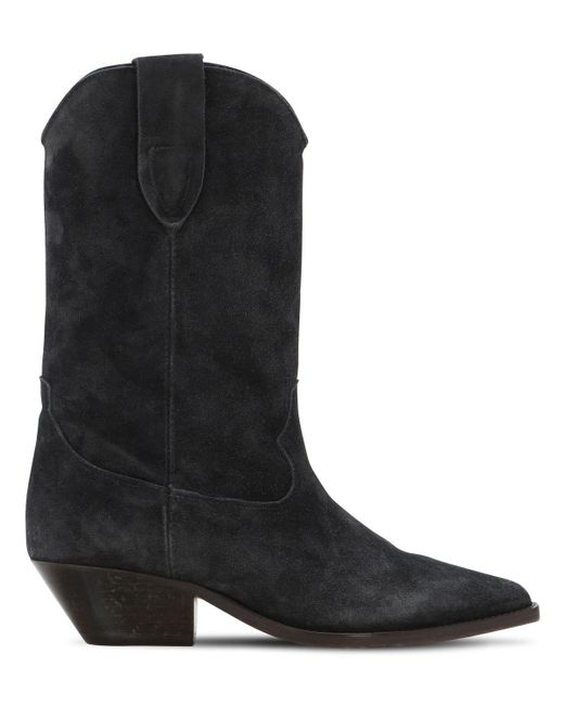 Замшевые Сапоги 40мм Isabel Marant, цвет: Black