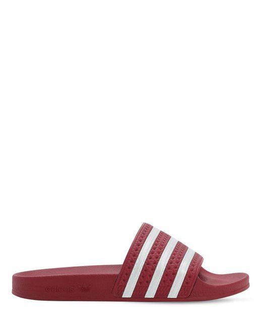 "adidas Originals Sandalias ""Adilette"" de mujer de color rojo"