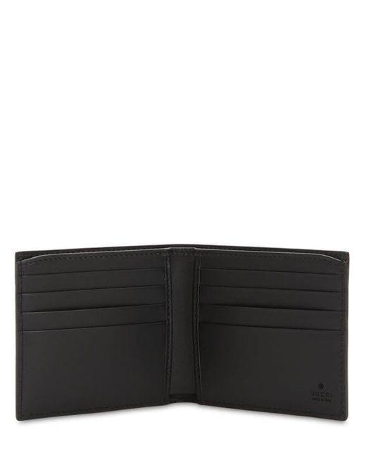 Gucci Brieftasche für Münzen aus GG Supreme mit Kingsnake Print in Black für Herren