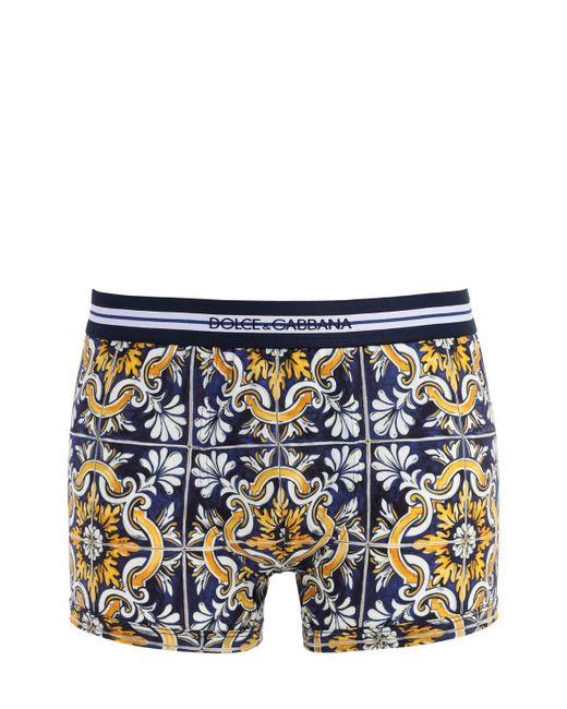 メンズ Dolce & Gabbana D&g コットンボクサーブリーフ Blue