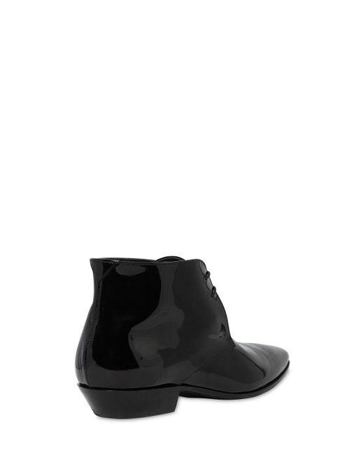 """Saint Laurent Black 20mm Hohe Stiefel Aus Poliertem Leder """"jonas"""""""