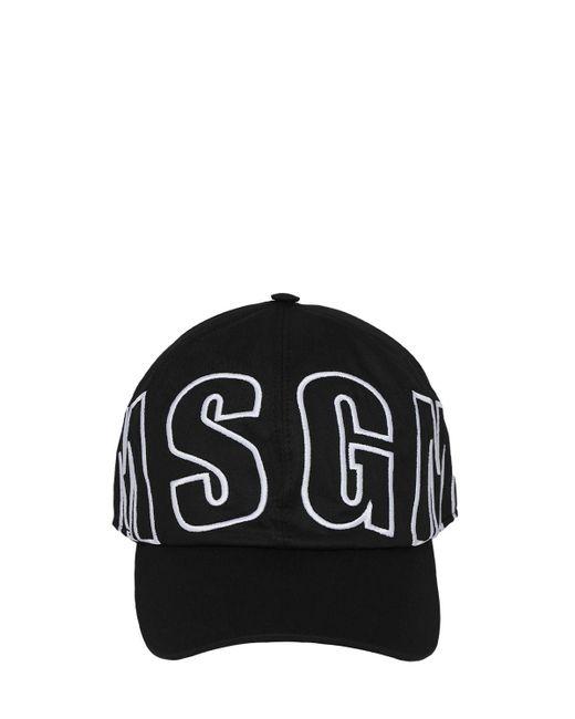 メンズ MSGM ロゴベースボールキャップ Black