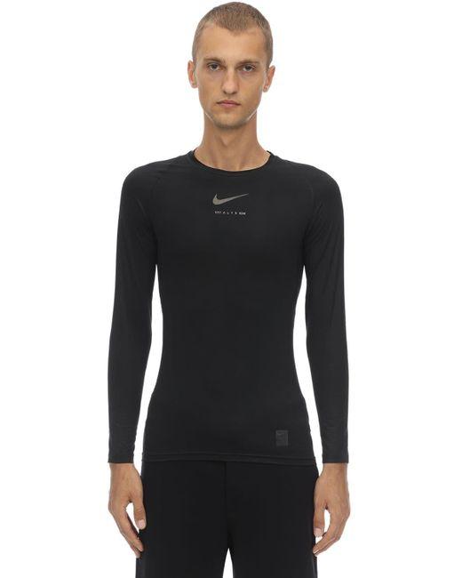 メンズ 1017 ALYX 9SM Nike テクノロングtシャツ Black