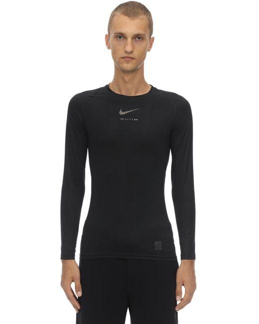 Футболка Из Хлопка Nike 1017 ALYX 9SM для него, цвет: Black