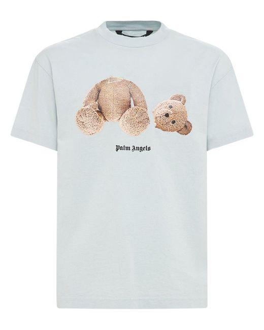 メンズ Palm Angels Bear コットンジャージーtシャツ Blue