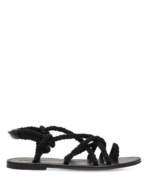 Сандалии С Веревками Saint Laurent для него, цвет: Black