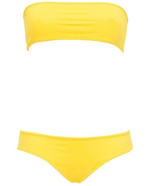 Laura Urbinati バンドゥビキニ Yellow