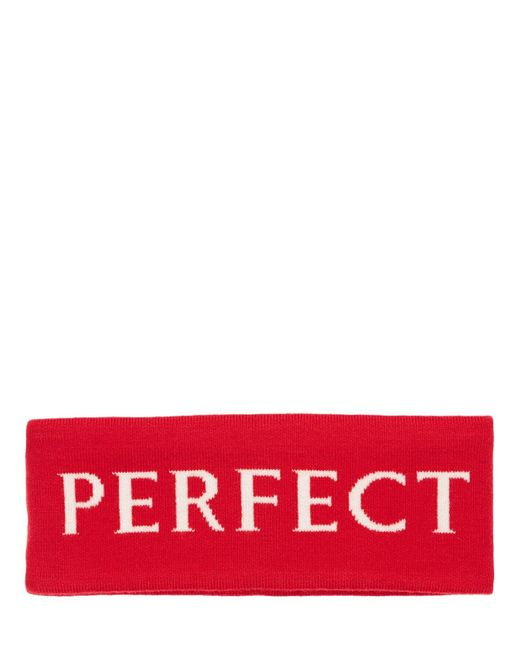 Perfect Moment Pm ウールヘッドバンド Red