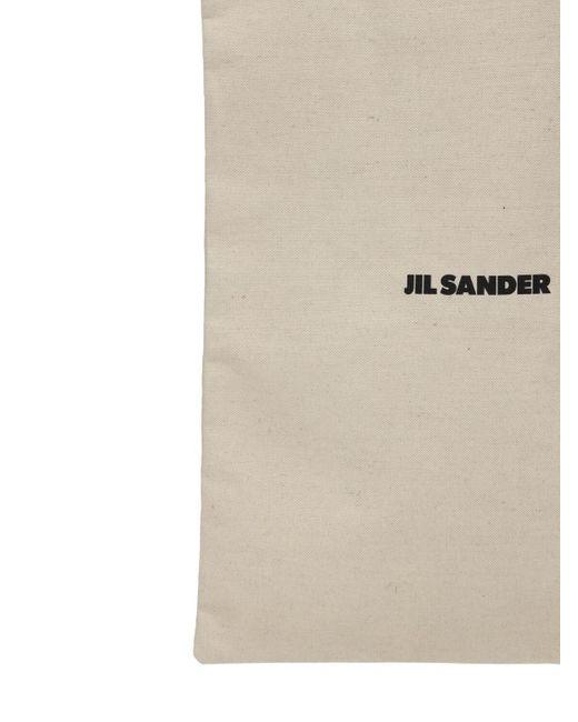 Jil Sander Maxi Flat キャンバストートバッグ Natural