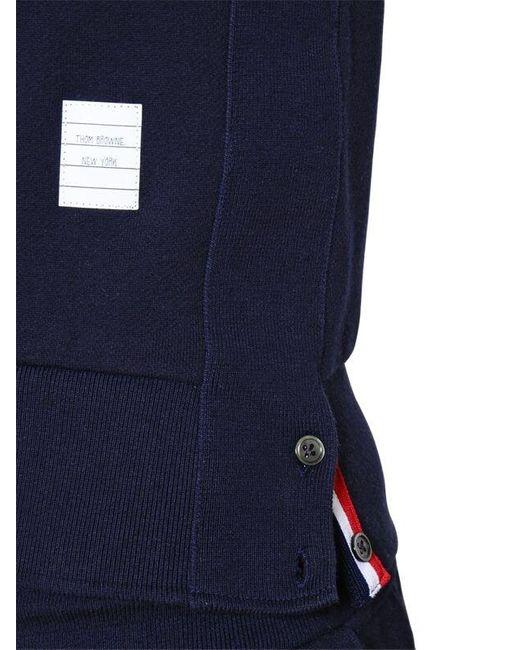 Thom Browne コットンスウェットシャツ Blue