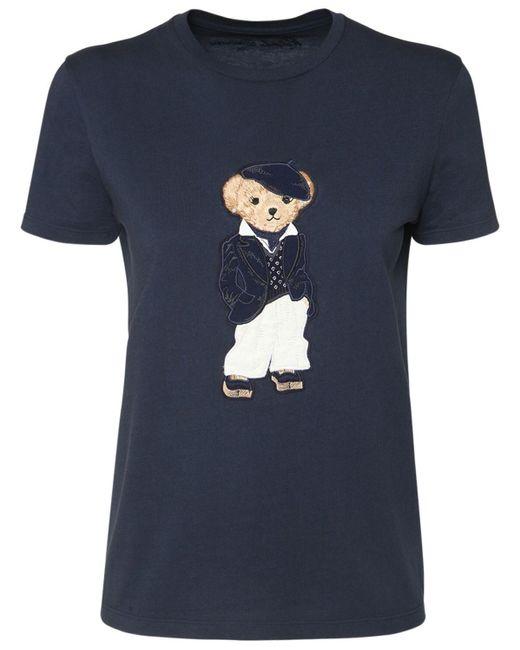 Ralph Lauren Collection コットンジャージーtシャツ Blue