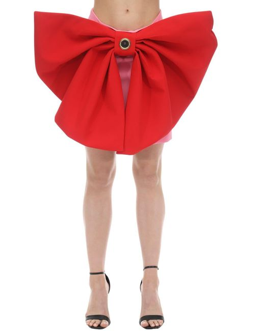 Fausto Puglisi Lvr Exclusive サテンミニスカート Red