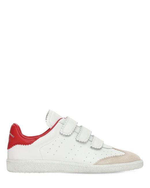Кожаные Кроссовки Beth 20мм Isabel Marant, цвет: White