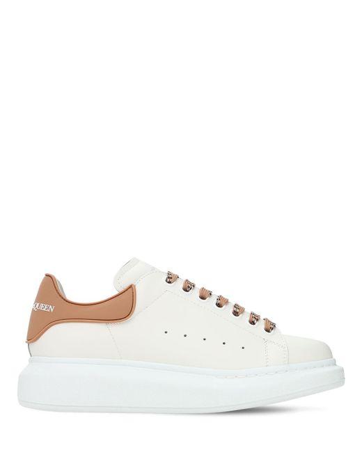 Кроссовки Из Кожи И Пвх 45мм Alexander McQueen, цвет: White