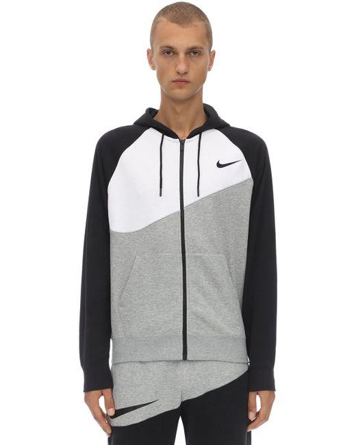 メンズ Nike Nsw Swoosh Fz Ft コットンブレンドフーディ Gray