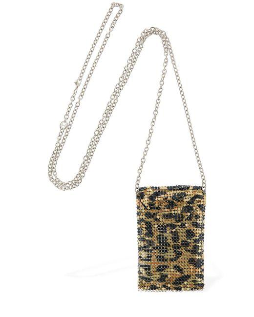 Paco Rabanne Mini Mesh Leopard ネックレス Metallic