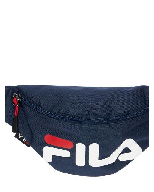 Сумка На Пояс С Принтом Логотипа Fila, цвет: Blue