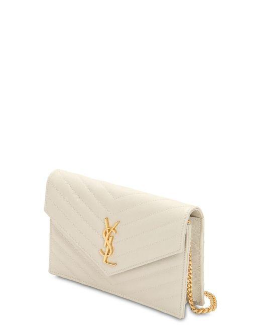 """Кожаный Кошелек """"sm Monogram"""" Saint Laurent, цвет: Multicolor"""