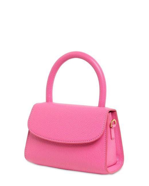 By Far Mini グレインレザーバッグ Pink