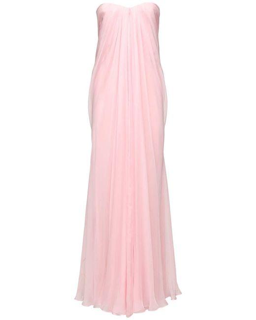 Alexander McQueen シルクシフォンドレス Pink