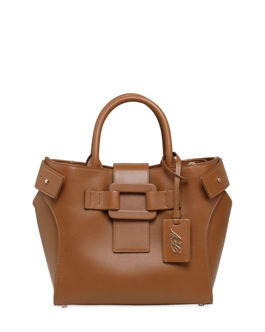 Roger Vivier | Brown Small Pilgrim De Jour Leather Bag | Lyst
