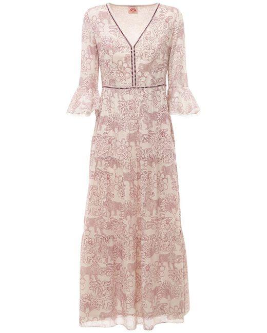 Le Sirenuse Bella コットンボイルドレス Pink