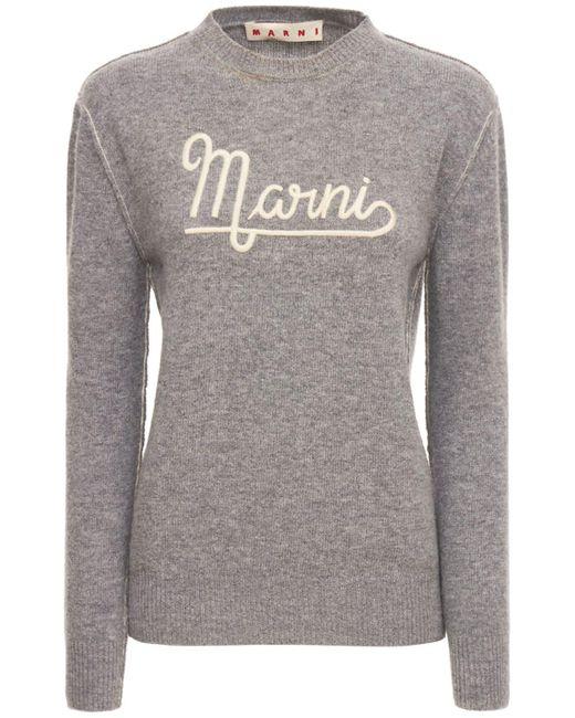 Marni ウールニットセーター Gray