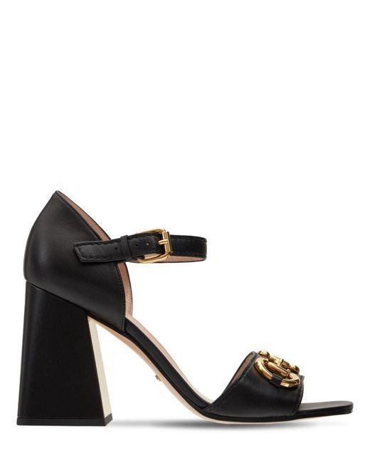 Кожаные Босоножки С Пряжкой 95mm Gucci, цвет: Black