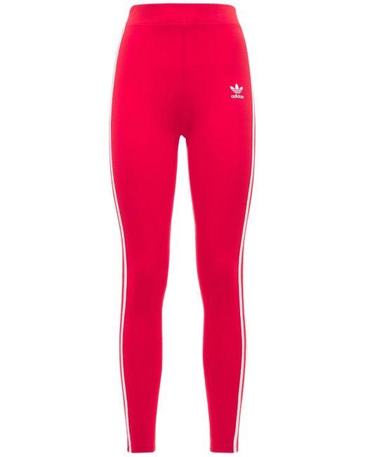 Adidas Originals 3 Stripes タイツ Red