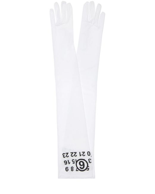 MM6 by Maison Martin Margiela ロンググローブ White