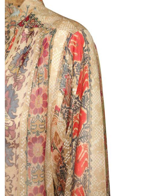Etro ジョーゼットフリルスカート Multicolor