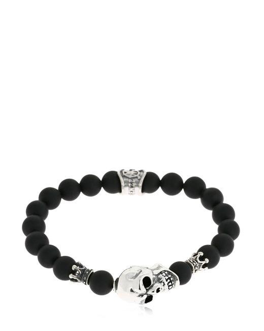 Cantini Mc Firenze - Black Skull Onyx Bracelet for Men - Lyst