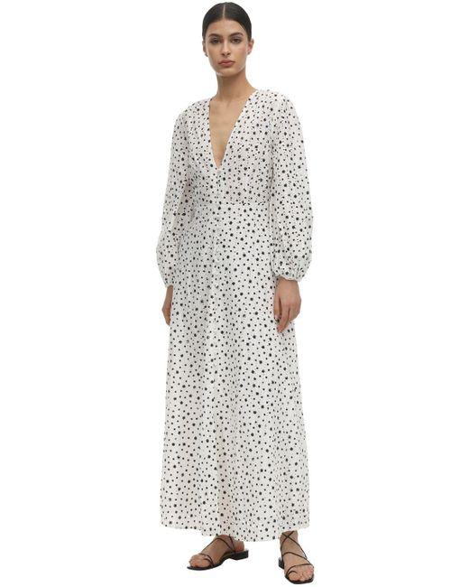 Платье Макси Blaire С Принтом Rixo, цвет: White