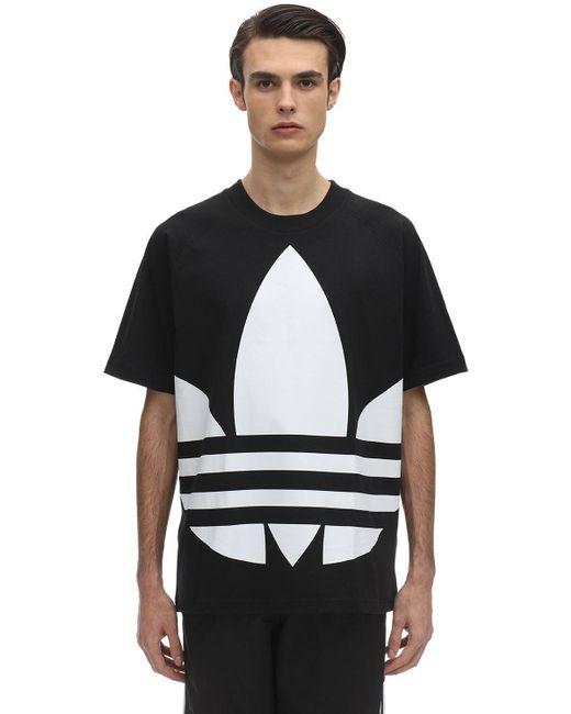 メンズ Adidas Originals コットンジャージーtシャツ Black