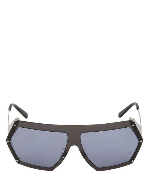 Philipp Plein Blue Mirrored Square Sunglasses