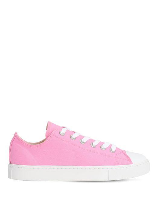 Кроссовки Из Канваса Junya Watanabe для него, цвет: Pink