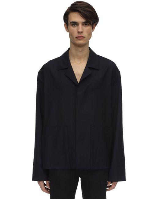 メンズ Maison Margiela ヴァージンウール&モヘア ポプリンシャツジャケット Blue