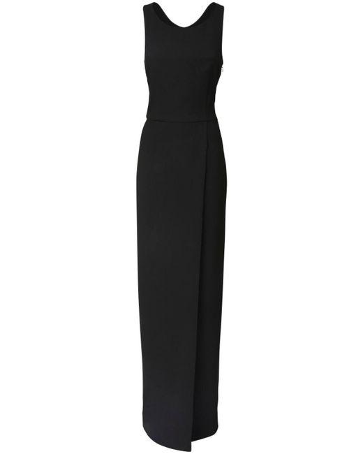 Длинное Платье Из Шерстяного Крепа Givenchy, цвет: Black