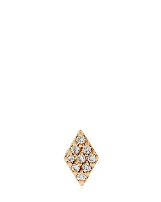 Jezebel London | Metallic Duke Gold & Diamond Stud Mono Earring | Lyst