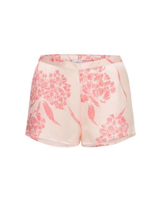 La Perla シルクサテンパジャマショートパンツ Pink