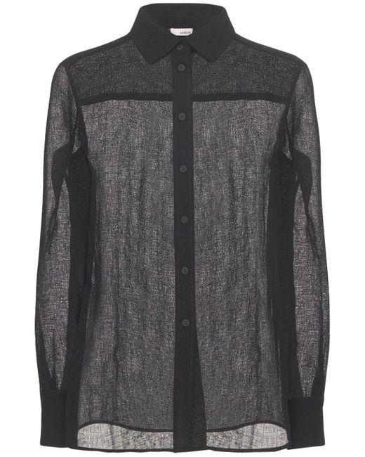 Lardini Dan Classic シアーシャツ Black