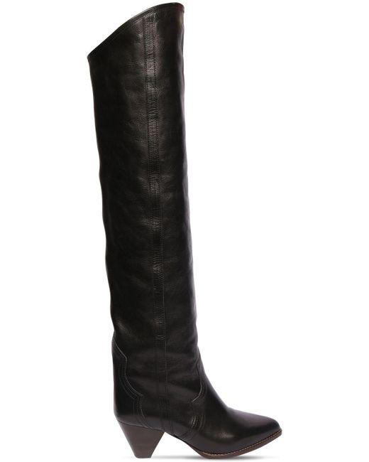 Ботфорты Remko Из Кожи 60mm Isabel Marant, цвет: Black