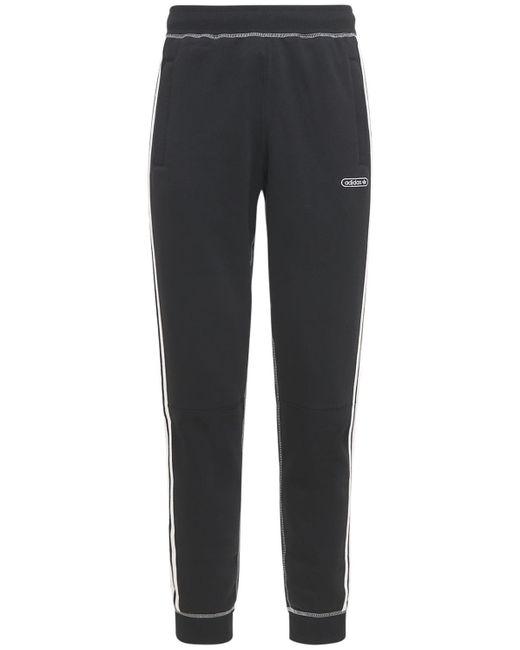 メンズ Adidas Originals コットンブレンドスウェットパンツ Black